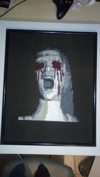 Unique perler of Blinded eyes from Fatal Frame
