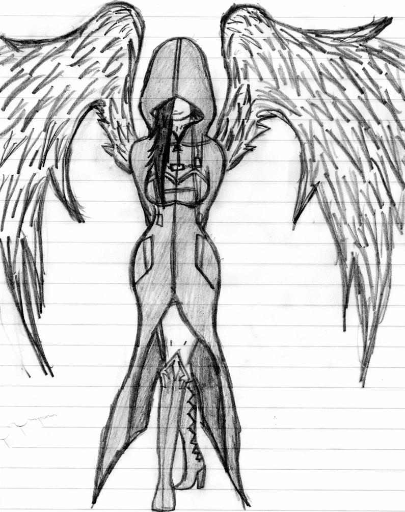 The dark angel by nerosaix on deviantart for Dark angel coloring pages