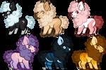 Fluff Pups (6/6 OPEN) by silhou-cat