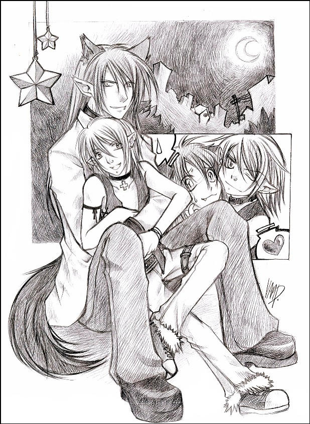 +Kyou and Shahn+ by Frog-VaMp