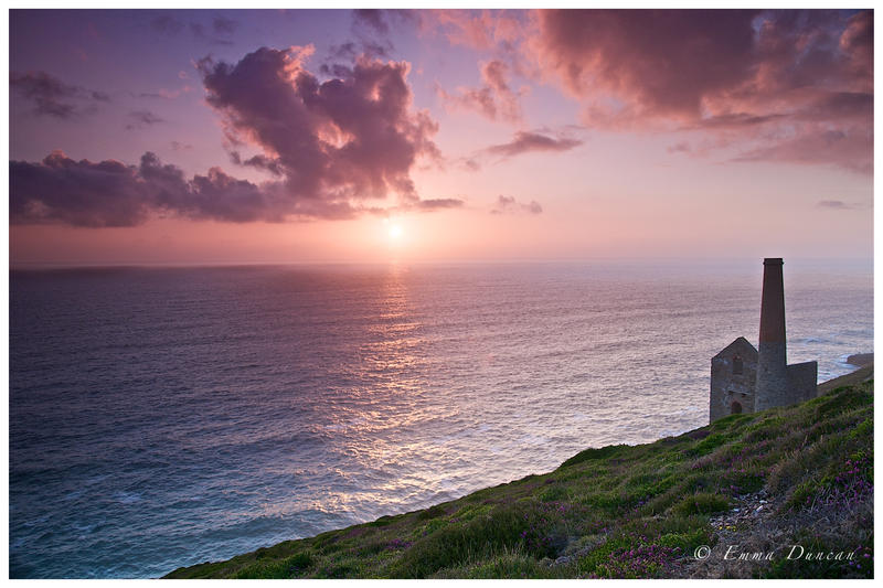 Wheal Coates Sunset by Shutterflutter