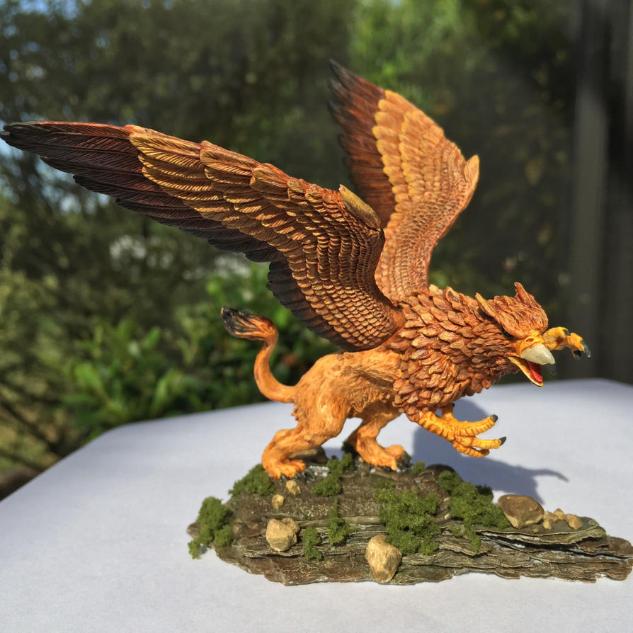 Painted Reaper Bones 'Griffon' by tomphilbrick