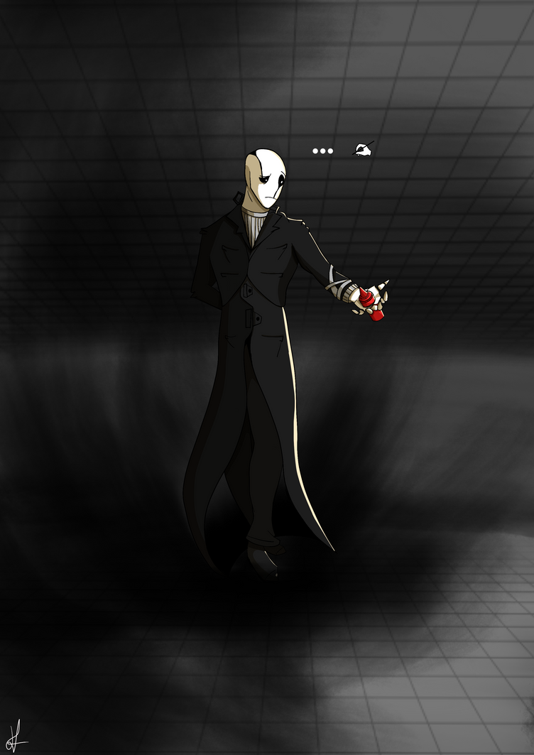 Gaster the condiment holder- Undertale by Hypnotunez