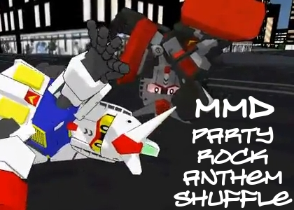 MMD Party Rock Anthem Shuffle by blazeraptor