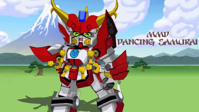 MMD Dancing Samurai by blazeraptor