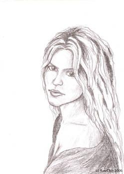 Shakira pencil portrait