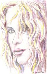 Shakira pencil portrait 2 by roychin