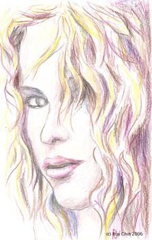 Shakira pencil portrait 2