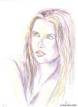 Shakira pencil portrait 3