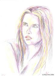Shakira pencil portrait 3 by roychin