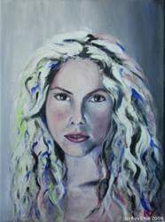 Shakira portrait by roychin