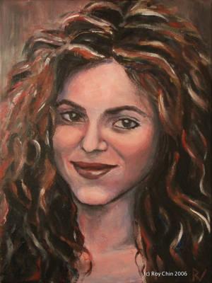 Shakira smiling by roychin
