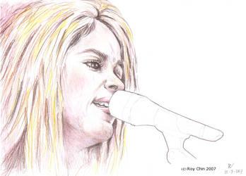 Shakira singing inevitable by roychin