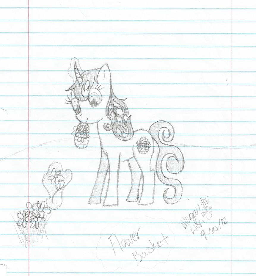 Flower Basket (Sketch or drawing) by MorFaeSparLightning ...