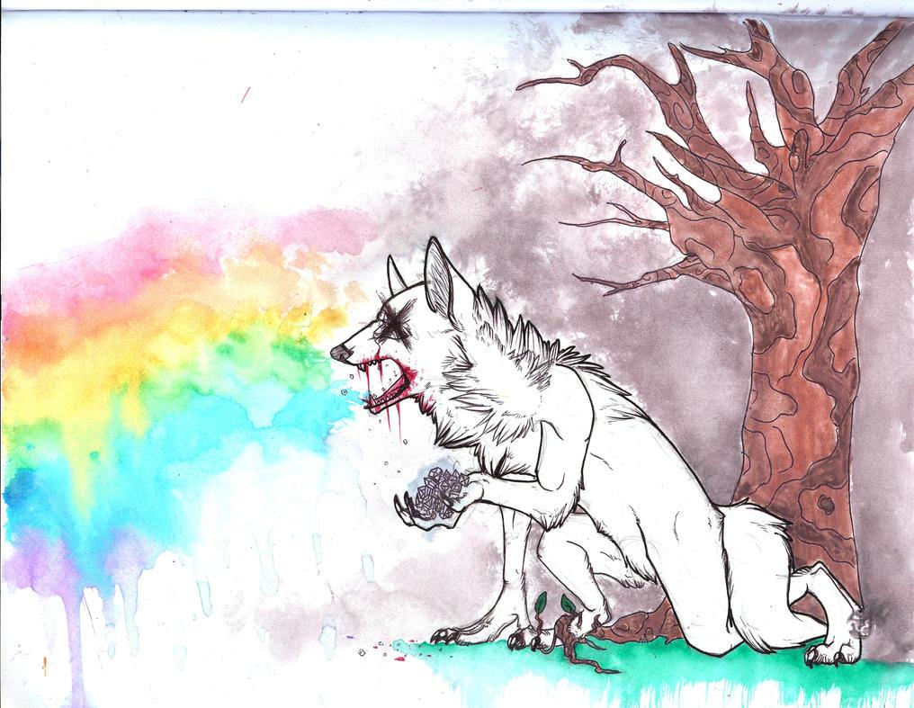 Eat Diamonds  Puke Rainbows  Ofwgkta Cat Eating Rainbow