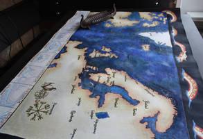 Viking Voyages Map by HelevornArt