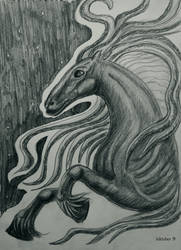 Inktober 10: Calul nazdravan by HelevornArt