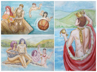 Prom: Pool Party by HelevornArt