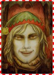 Santa's Creepy Helper by HelevornArt