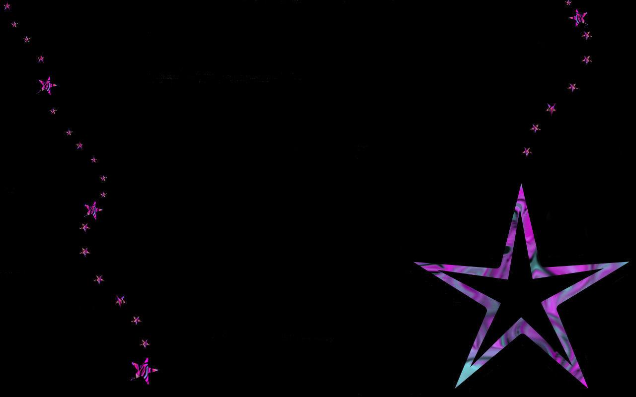 Purple and black stars