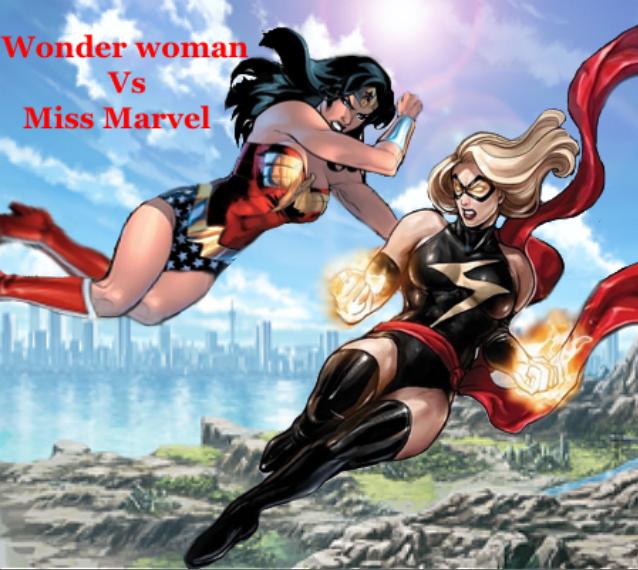 wonder woman vs miss marvel by tony antwonio on deviantart