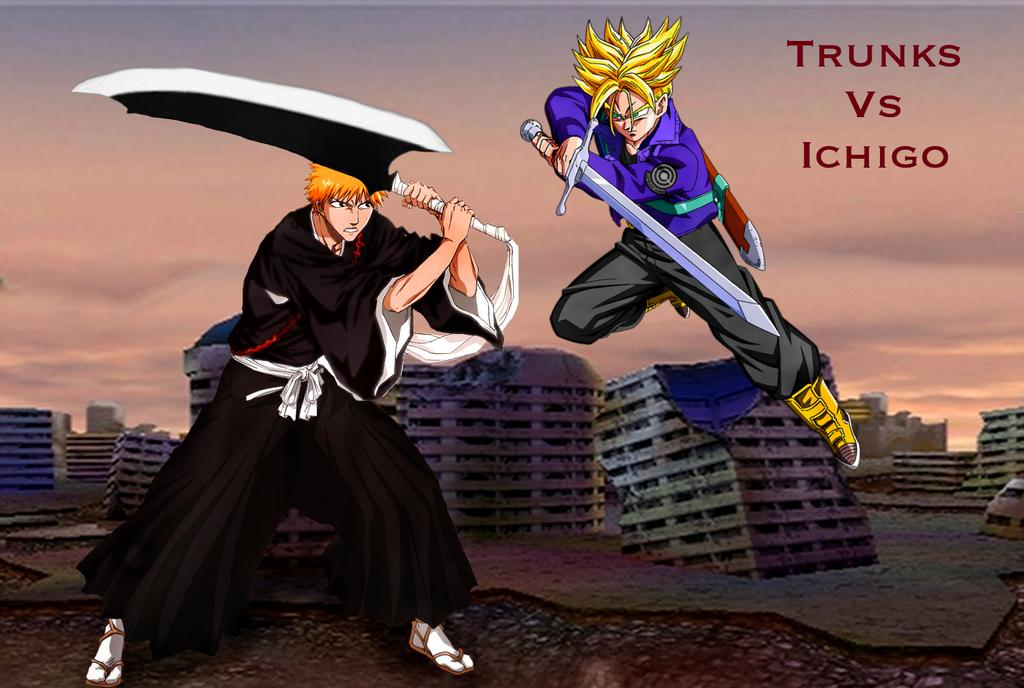Trunks vs Ichigo by Tony-Antwonio