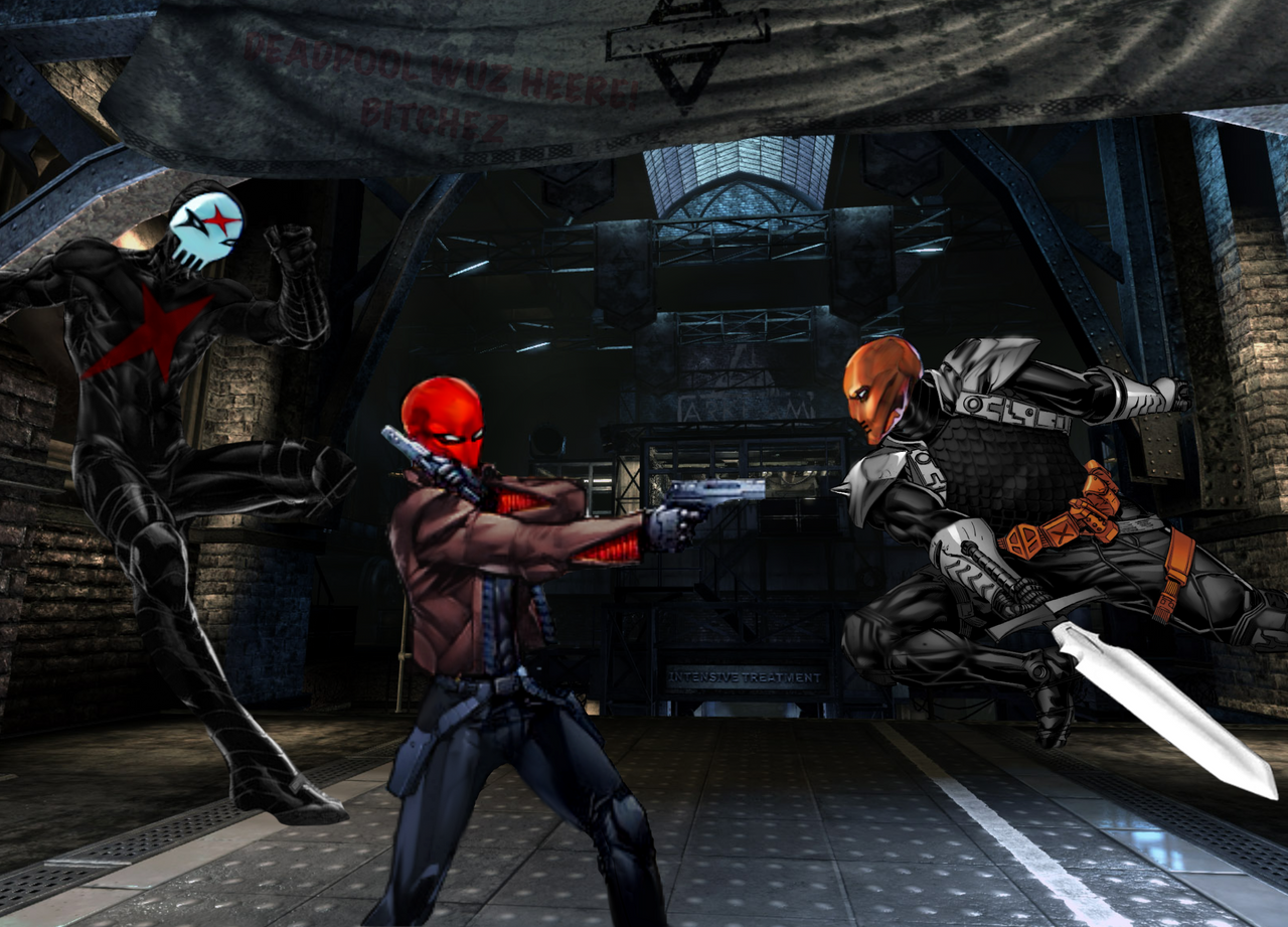 Red Hood VS DeathStroke X By Tony Antwonio