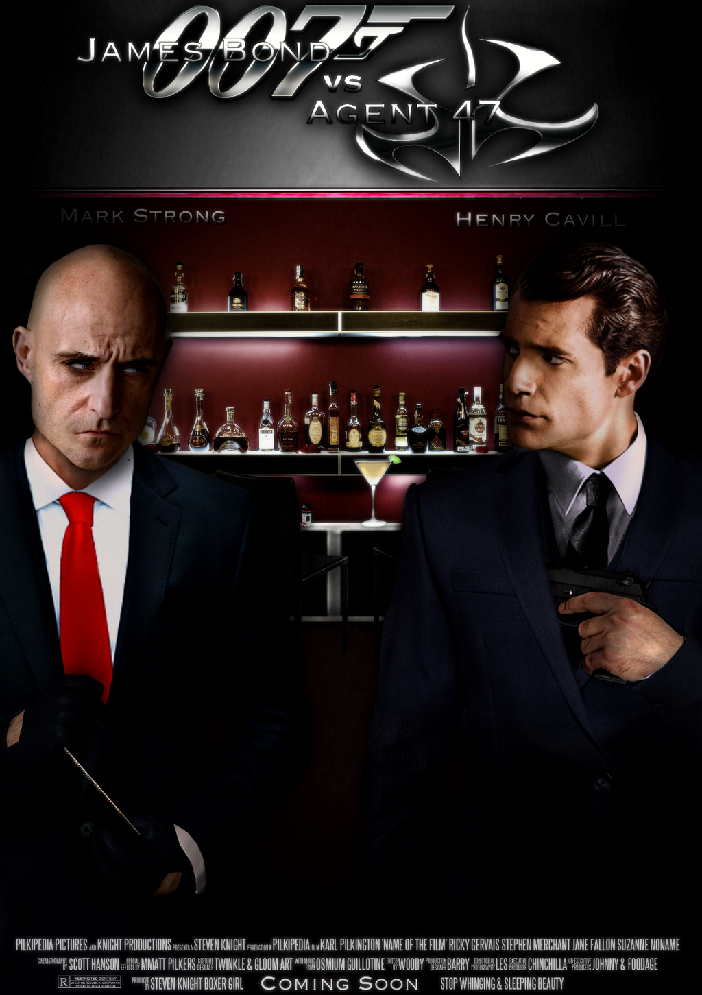 James Bond Vs Agent 47 Movie Poster By Tony Antwonio On Deviantart