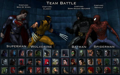 Marvel vs DC Character Select Screen by Tony-Antwonio
