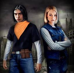 Live action Android 17 and 18