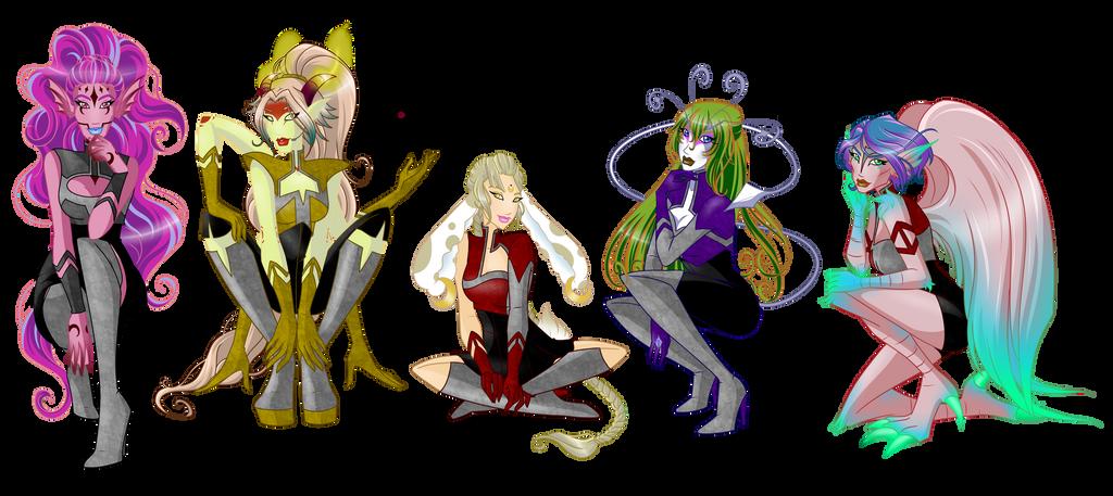 Venus, Amira, Colleene, Ezra and Liberty FALISITY by SamoanVampCatt