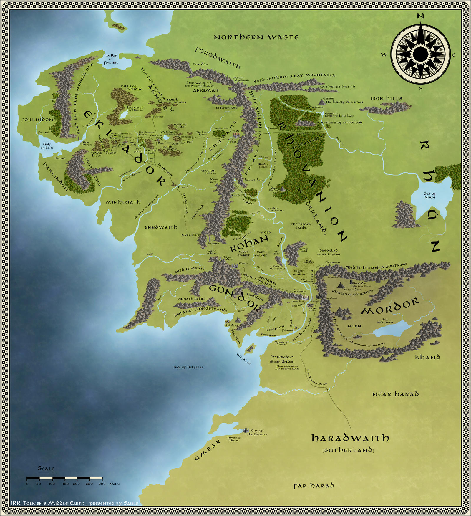 complete map of middle earth pdf