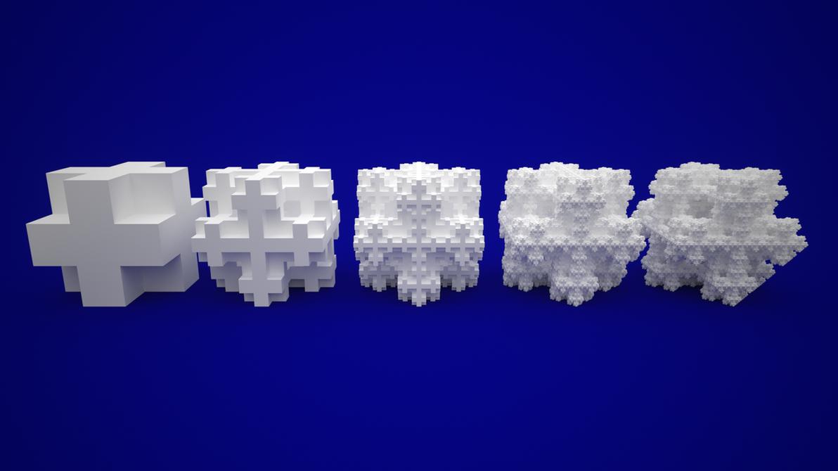 Koch Snowflake Sponge by usere35