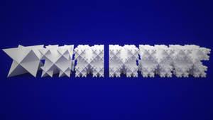 Stellated Octahedron Koch Snowflake