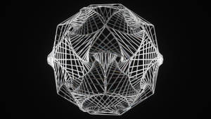 Wireframe Spiral Dodecahedron