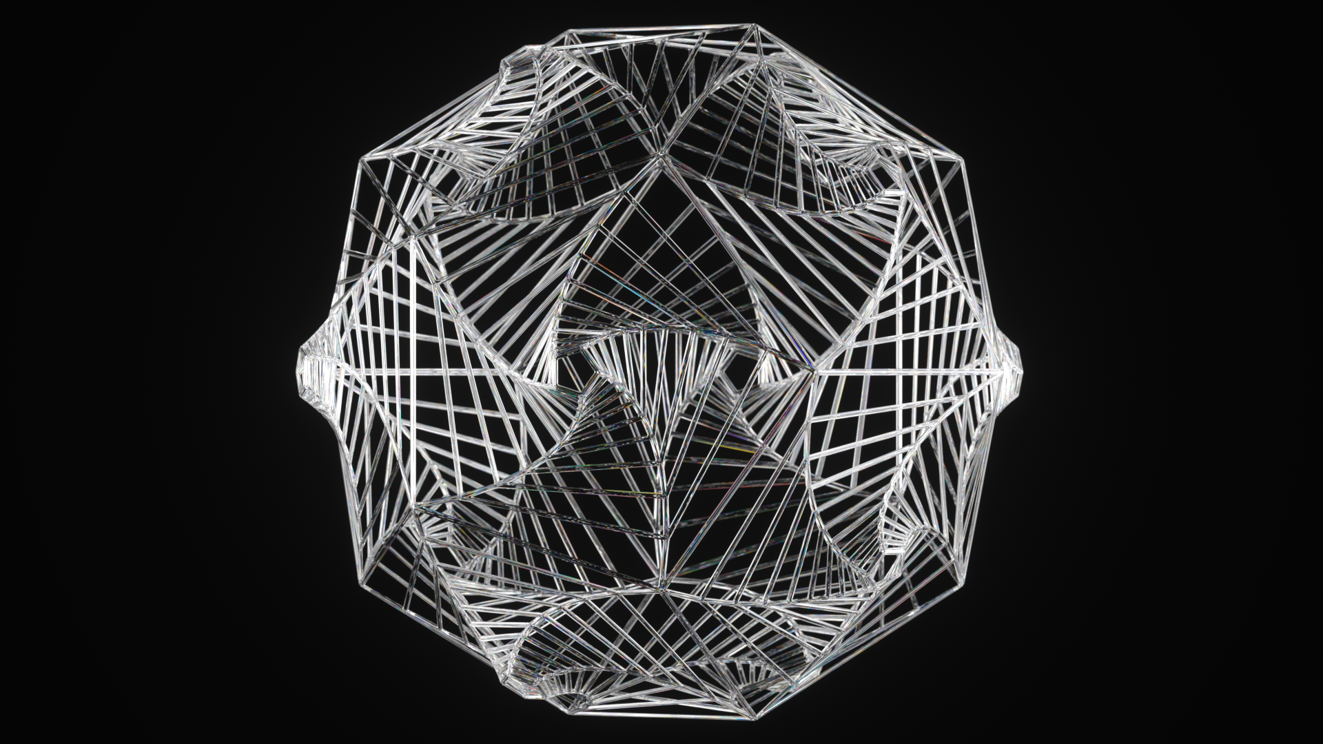 Wireframe Spiral Dodecahedron by usere35