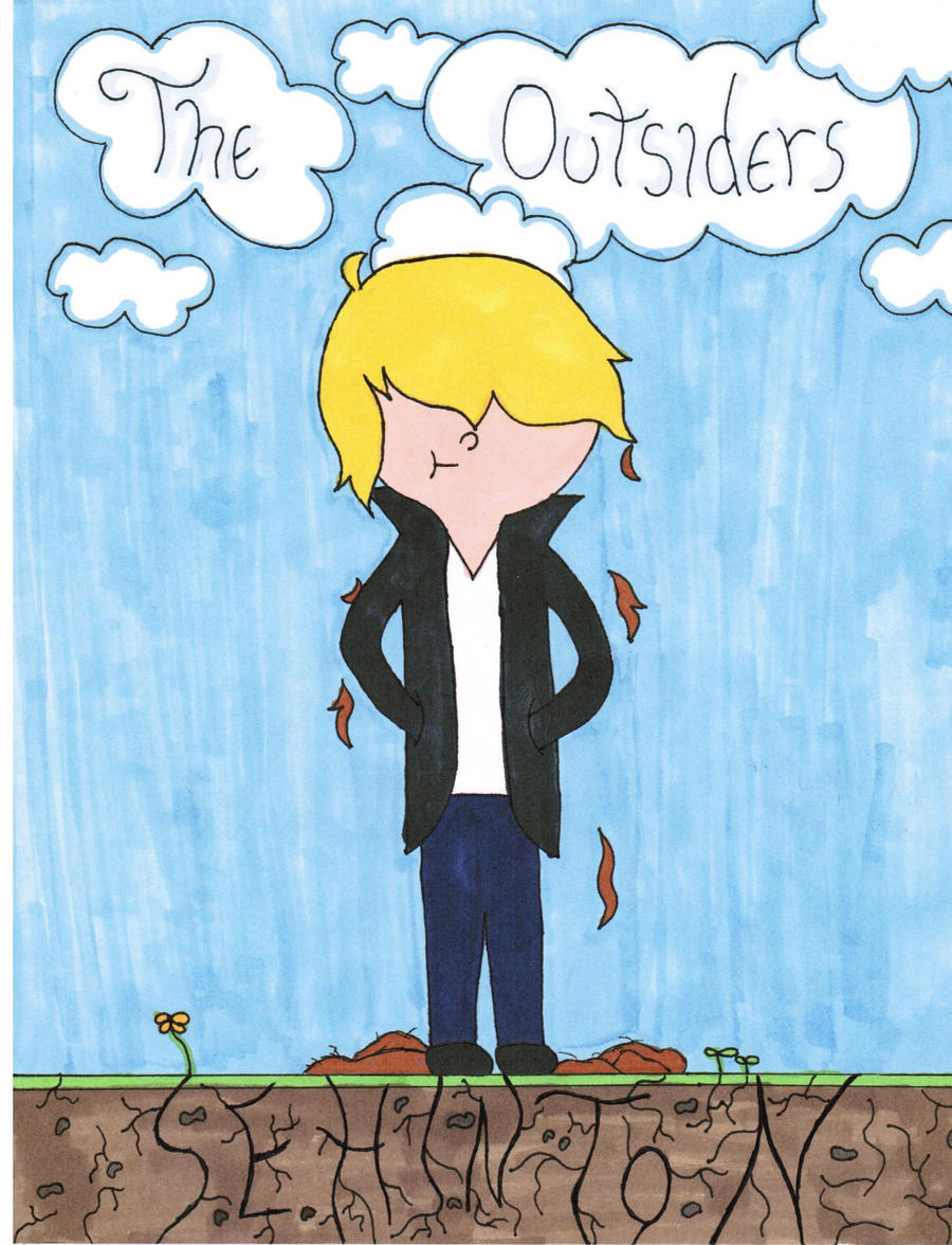 The Outsiders Drawing Book Cover ~ The outsiders book cover by nekomemi on deviantart