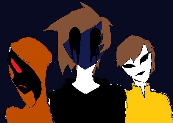 Eyeless Jsck, Hoodie, And Masky by hotaru365