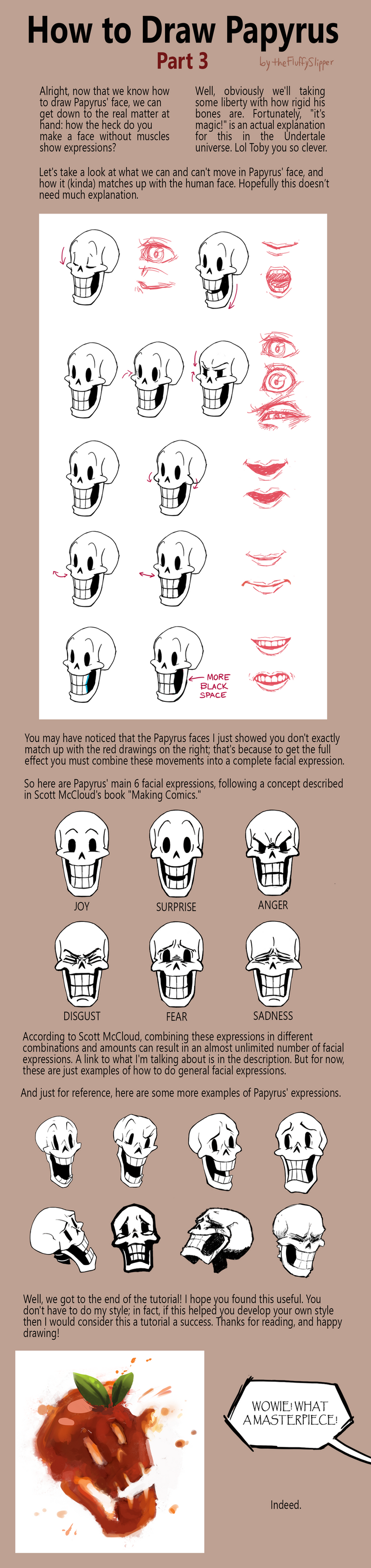 How To Draw Papyrus Part 3 By FluffySlipper On DeviantArt