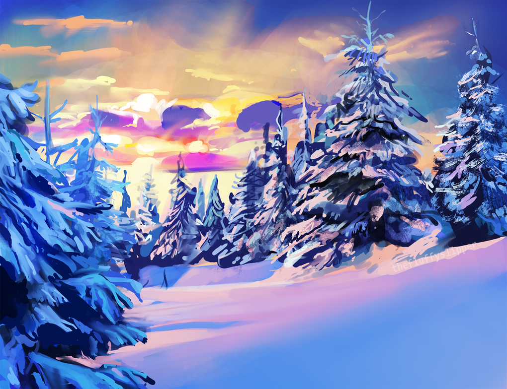 Pink snow by fluffySlipper