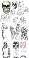 Sketches 8: Hoodies And Skulls