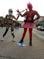Sexy Storm Trooper and cross dressing Deadpool by metalwolf77777
