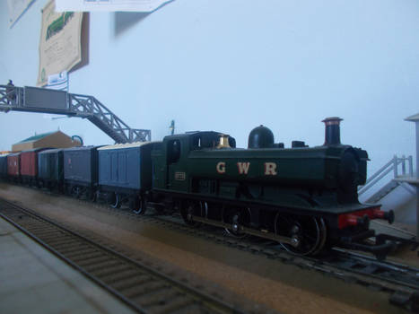 Goods Train At The Platform