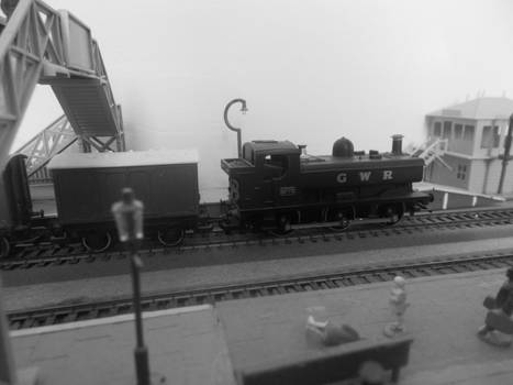 Goods Train Waiting To Go