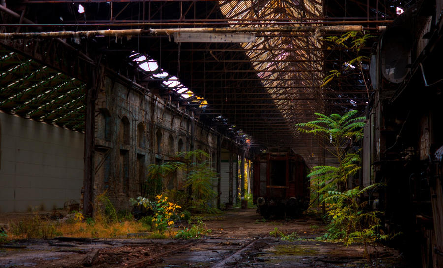 Istvantelek Train Graveyard - The Hall by FlawlessMonkey