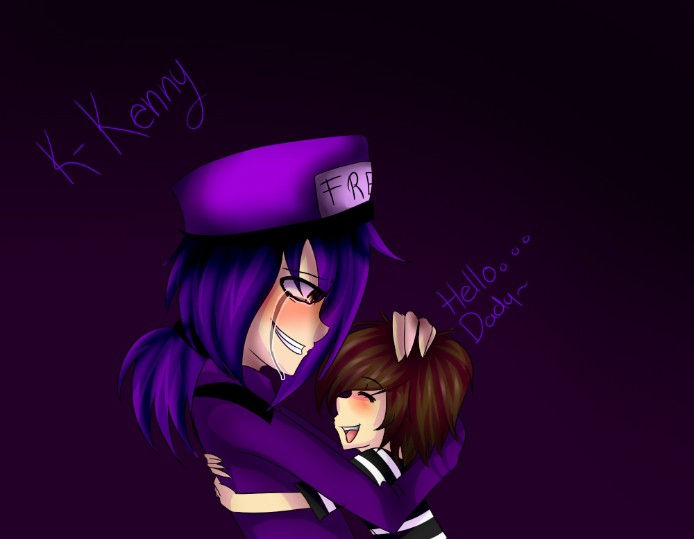 Vicent (Purple Guy) and Kenny - FNAF by InfectiosKoali on