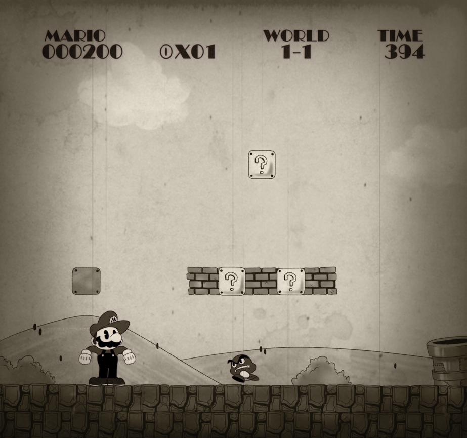 Super Mario in 1-1 Willie by PotterzillaSeries