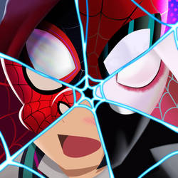 Inktober day 3: Spiderverse by PotterzillaSeries