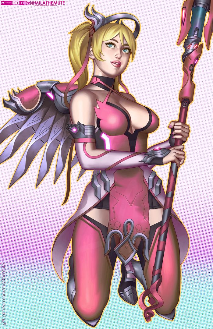 Pink Mercy by MilaTheMute