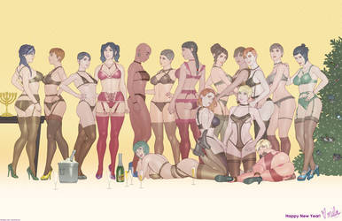 R6 Holiday Group (Lingerie Ver.) by MilaTheMute